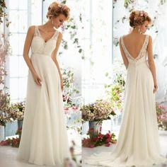 Free Shipping ! New Arrival V-neck Sleeveless Chiffon Beading Beach Wedding Dresses 2014 $219.20