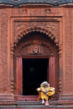 "yeh-hai-meri-kahaani: "" Sadhu at the temple, Banares of Kashi, India by Tilak Haria """