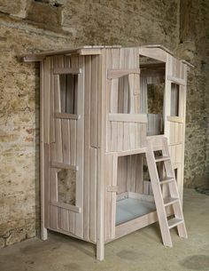 Loft bed on pinterest bunk bed tree house beds and fort bed for Really cute houses