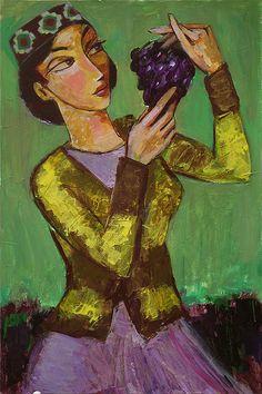 To Eat Or To Delight by Ara Shahkhatuni Armenian American, Armenian Culture, Arm Art, Painter Artist, My Heart Is Breaking, Folk Art, Mixed Media, Arms, Artists