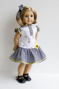 """made from a Liberty Jane pattern - I think it was based on the JENNIFER AND KATE 18"""" DOLL CLOTHES pattern"""