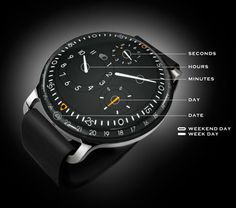 RESSENCE TYPE 3 WATCH: Watches have traditionally been built in the same way, with crystal sitting on top of hands, sitting on top of a dial. The Ressence Type 3 Watch ($TBA) doesn't totally reinvent this paradigm, but it comes close. With no hands and no crown, it features a series of constantly rotating discs that indicate hours, minutes... Don't fall in and get drowned
