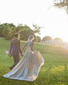 The sunset, Fearrington's scenery and a happily married newlywed couple creates a stunning image