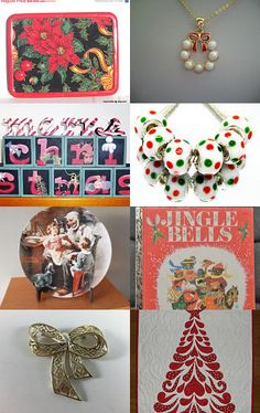 Christmas in July for TeamVintageUSA Treasury with a Twist! by Cindy Winfrey and Cheryl Dore on Etsy--Pinned with TreasuryPin.com