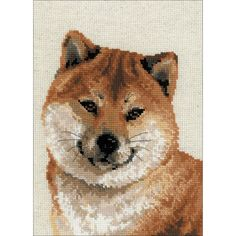 "RIOLIS Japanese Husky Counted Cross Stitch Kit-9.5""X12"" 10 Count"