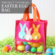 Easter Egg Bag (PR2089) from www.emblibrary.com