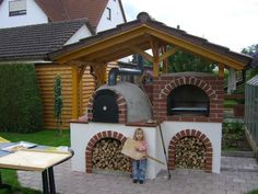 Holzbackofen Gazebo, Pergola, Outdoor Structures, Pizza, Image, Bakken, Fire Pits, Kiosk, Pavilion