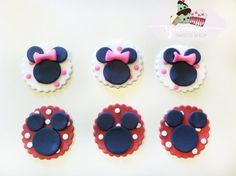 Minnie Mouse Cupcake/Cookie Fondant