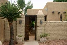 Entrance to traditional Adobe house