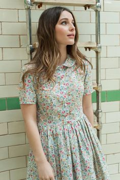 New SS15 Plum and Pigeon dress, handmade in the lovely Betsy print Liberty fabric