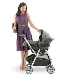 Chicco Caddy (~$100): Use with your Chicco KeyFit 30 car seat; lightweight, easy to use and a gloriously huge basket!
