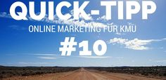 Quick Tipp - Online Marketing