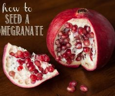 If you've never opened a pomegranate or you already have a method of removing the seeds, you'll want to watch my instructions on How to Seed a Pomegranate.