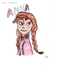 Anna de la eplicula Frozen !!