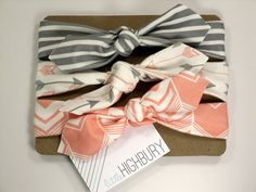 Arrow Chevron Organic Cotton Knotted Headband/ by littlehighbury, $28.00