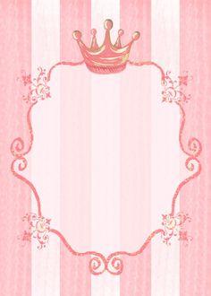 Baby Shower Invitation Background Lovely Princess Party Invitation Background Kids Stationery C Est Chic Papier Princess Theme, Baby Shower Princess, Baby Princess, Royal Princess, Princess Room, Princess Diana, Disney Princess, Invitation Fete, Baby Shower Invitation Templates
