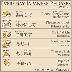 Everyday Japanese Phrases part.2 🐥