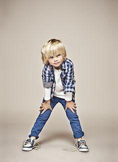 Cute blonde boy little kids style-maybe I'll let Cruz's mop stay....