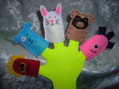 Felt Finger Puppets by SugarplumCreations on Etsy, $10.00