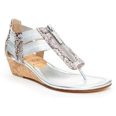 Donald J Pliner Women's Dori- Silver (6) ($99) ❤ liked on Polyvore featuring shoes, sandals, leather, silver, snake, snake skin shoes, silver metallic shoes, metallic shoes, snake skin sandals and silver gladiator sandals