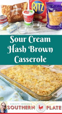 Sour Cream Hash Brown Casserole is super easy to whip up and always a hit. #easy #recipes #sidedish