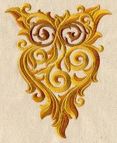 Ornate Owl from Urban Threads...one of my favorite places to get designs