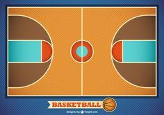 Vector basketball field