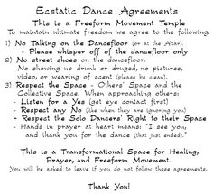 Ecstatic Dance San Francisco Bay Area - Oakland - New York - Hawaii - Amsterdam - Berlin - Boston - Grass Valley - Ecstatic Dance - Guidelines