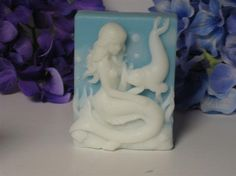 mermaid and seal soap beautiful decorative soaps for your bath you choose scent and color on Etsy, $5.00