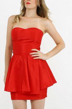 vestido, peplum & vermelho. - vestidos de festa rita prado