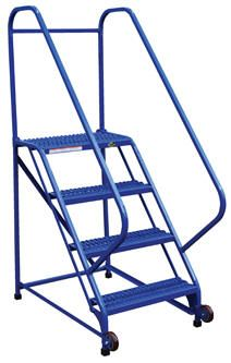 Cotterman 4 Step Tilt N Roll Steel Ladder With 24 Quot W