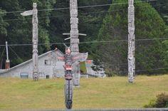 Kwakwaka'wakw #totem poles in Alert Bay