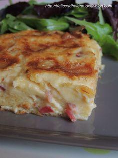 CLAFOUTIS AU MAROILLES ET AUX LARDONS Quiche Muffins, Quiche Lorraine, Savoury Baking, Batch Cooking, Ww Recipes, Fruits And Veggies, I Foods, Family Meals, Entrees