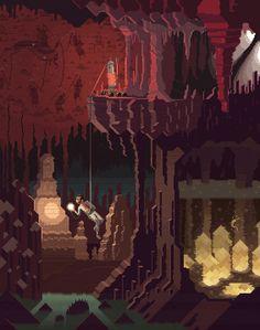 Scene #21: 'Ben. Part II'Pixel Art illustrations by Octavi Navarro. 2015.www.pixelshuh.com