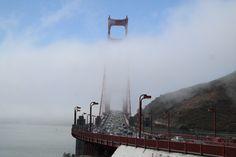 Golden Gate Bridge in fog 2013 08 18