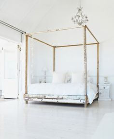 Peace. Wide open white master bedroom!