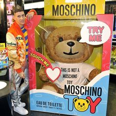 Jeremy SCOTT at the Moschino TOY launch in Lodon Harrods at 13th November.