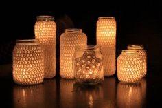 Crochet Votives by NW Nature Nut, via Flickr