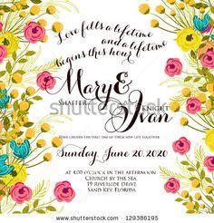 Wedding invitation by Wedding invitation cards, via ShutterStock