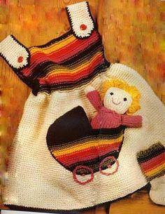 Beautiful yarn crochet dress with pattern - Crochet Baby