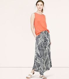 Image of Sketched Palm Maxi Skirt