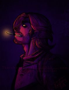 Oh my God this is amazing... The Wolf Among Us.. Bigby.. ::The Big Bad Wolf:: by SketchbookGeek.deviantart.com on @deviantART