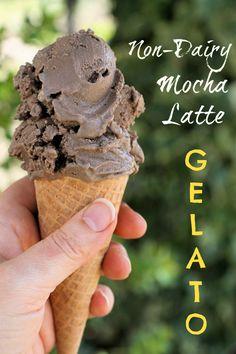 Non-dairy Mocha Latte Gelato Recipe #dairyfree #LoveMySilk