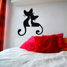 Lovely Cat-n-Kitten Wall Decal  Mother's love is the love that no one can replace. Buy this tender loving animal cat's wall sticker for your bedroom and make it look cute. Bring your happiness back as a cute animal wall art. Choose available colors and sizes given below.  SMALL :-- 22 X 24 -- IN INCHES MEDIUM :-- 24 X 26 -- IN INCHES LARGE :-- 48 X 52 -- IN INCHES