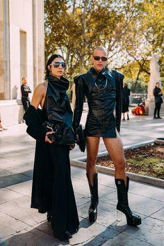 Cool Street Fashion, Street Style, Paris Fashion, Top Show, Fembois, Paris Shows, Fashion Photo, Milan, Leather Skirt