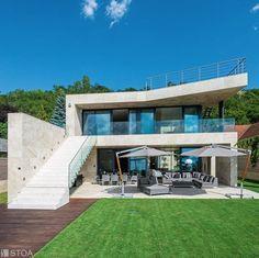 luxury lakeside villa designed by Stoa Studio, Balint Asztai Villa Design, Luxury Villa, Photo And Video, Mansions, Studio, House Styles, Instagram, Home Decor, Luxury Condo