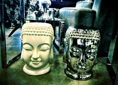 Buddha ceramic side tables at @Ashley Urban Barn. Spotted at Urban Barn Regent. Around $89.