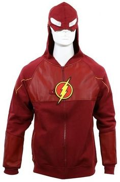 "This amazing hoodie that has a built in mask(!!!). | 29 Products You Need If You're Obsessed With ""The Flash"""