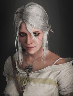 Ciri Portrait by AnubisDHL on @DeviantArt