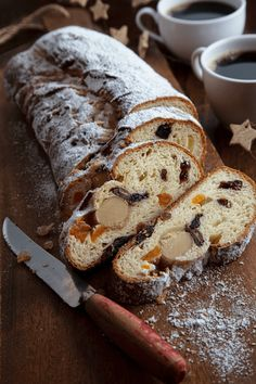 Try this recipe: Dried Fruit Stollen Christmas Bread, Cozy Christmas, Xmas, Stollen Recipe, Fruit Bread, Pan Bread, Dried Fruit, Marzipan, Savoury Dishes